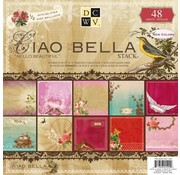 """DCWV und Sugar Plum DCWV, Designer Block, """"Ciao Bella"""", 48 sheets, 30.5 x 30.5 cm, 1/2 with glitter!"""