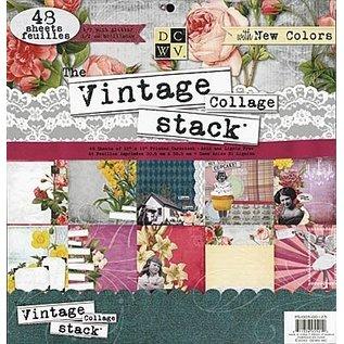 """DCWV und Sugar Plum DCWV, Designer Block, """"Vintage collage Strack"""", 48 Blatt, 30,5 x 30,5 cm"""