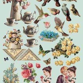 Vintage, Nostalgia und Shabby Shic Troquelado, A4, motivos vintage.