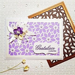 CREATIVE EXPRESSIONS und COUTURE CREATIONS CREATIVE EXPRESSIONS, Snij  en embossing sjabloon: Background Collection Daisy Mosaic
