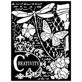 Stamperia und Florella Bland mediekunst Tykk stencil. 20x25cm, 0,5mm tykt