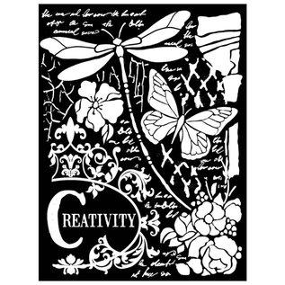 Stamperia und Florella Mix mediakunst Dikke stencil. 20x25cm, 0,5 mm dik
