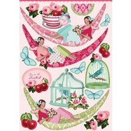 Embellishments / Verzierungen Tilda 4x A4 punched sheets - LAST in stock!