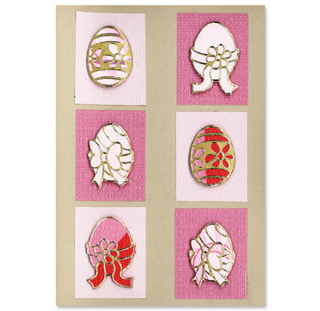 Sticker SET: 6 Outline Stickers, easter