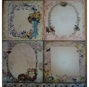 Designer Papier Scrapbooking: 30,5 x 30,5 cm Papier LaBlanche, carte e carta scrapbook, 30,5 x 30,5 cm