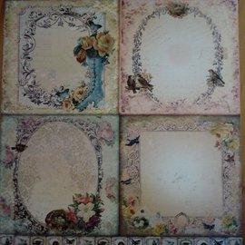 Designer Papier Scrapbooking: 30,5 x 30,5 cm Papier LaBlanche, papier cartonné et scrapbook, 30,5 x 30,5 cm
