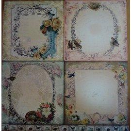 Designer Papier Scrapbooking: 30,5 x 30,5 cm Papier LaBlanche, kort og scrapbog papir, 30,5 x 30,5 cm