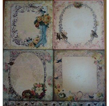 Designer Papier Scrapbooking: 30,5 x 30,5 cm Papier LaBlanche, Karten und Scrapbook Papier, 30,5 x 30,5 cm - LIMITED!