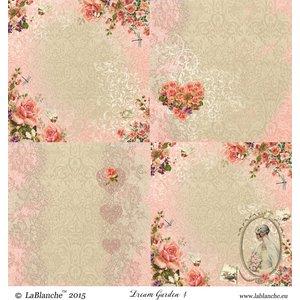 """LaBlanche 1 feuille, 30,5 x 30,5 cm de La Blanche 'Dream Garden 4 """""""