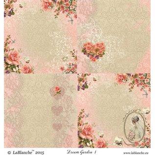 "LaBlanche 1 sheet, 30.5 x 30.5 cm from La Blanche 'Dream Garden 4 """