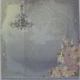 "LaBlanche Designpapir """" Crystal & Roses ""05"