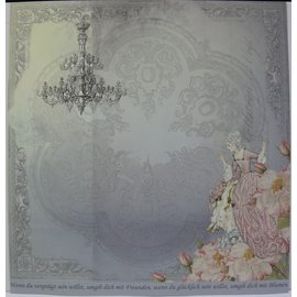 "LaBlanche Carta di design """" Crystal & Roses ""05"