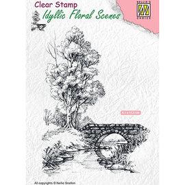 Nellie Snellen Nellie Snellen, motivo del francobollo, paesaggio con acqua e ponte