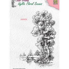 Nellie Snellen Nellie Snellen, motivo del francobollo, paesaggio con acqua e barca