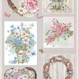 Marianne Design Fabrication sur papier: feuille A4 avec photos, bouquets