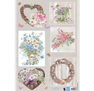 Marianne Design Crafting with paper: A4 sheet with pictures, bouquets