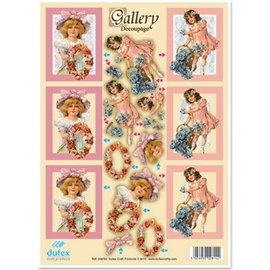 "BASTELSETS / CRAFT KITS 3D Die Cut Metal Gravering Dufex, Galleri ""Flower Girl"""