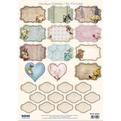 Stanseblad med 25 etiketter / etiketter