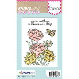 Studio Light Studio lys, stemplet motiv, gennemsigtig, roser