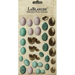 LaBlanche Lablanche, 3D-dimensionale / reliëfsticker met een glanzende fins en metallic highlight