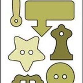 Crealies und CraftEmotions Plantillas de corte : Botones y clips