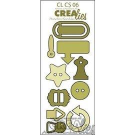 Crealies und CraftEmotions Stanzschablonen: Knöpfe und Clips