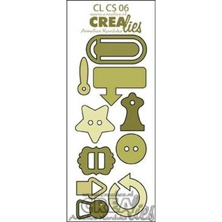 Craftemotions Plantillas de corte : Botones y clips