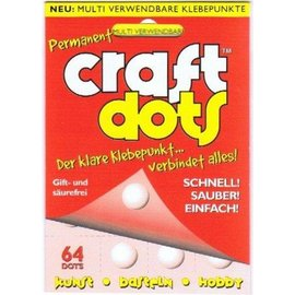 BASTELZUBEHÖR, WERKZEUG UND AUFBEWAHRUNG Craft glue: 64 glue dots, fast, clean, easy