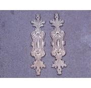 Embellishments / Verzierungen 2 abbellimenti in metallo, ornamenti in argento