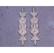 Embellishments / Verzierungen 2 metal udsmykninger, sølv ornamenter