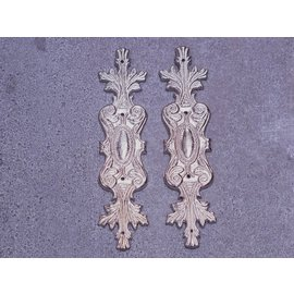 Embellishments / Verzierungen 2 adornos de metal, adornos de plata.