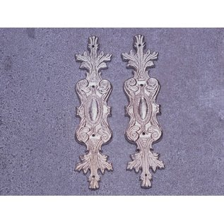 Embellishments / Verzierungen 2 metal embellishments, silver ornaments
