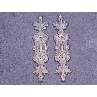 Embellishments / Verzierungen 2 metalen embellishments, zilveren ornamenten
