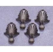 Embellishments / Verzierungen 4 metal feet in antique bronze