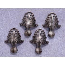 Embellishments / Verzierungen 4 metalfødder i antik bronze