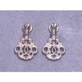 Embellishments / Verzierungen 2 embellissements en métal, ornements en argent - Copy