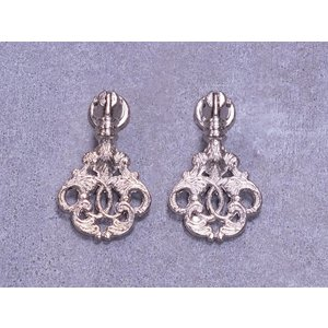 Embellishments / Verzierungen 2 metalen embellishments, zilveren ornamenten - Copy