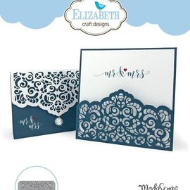 Elisabeth Craft Dies , By Lene, Lawn Fawn Taglio muore: Lace Card