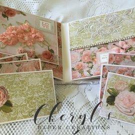 """Kaisercraft und K&Company Fuerza del emperador, papel para tarjetas y álbumes de recortes, 16,5 x 16,5 cm, """"Cottage Rose"""""""