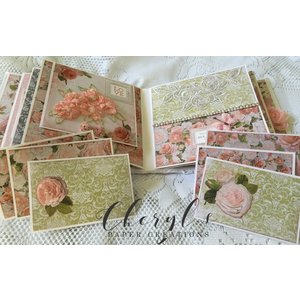 """Kaisercraft und K&Company Emperor Force, Card and Scrapbook Paper, 16.5 x 16.5 cm, """"Cottage Rose"""""""