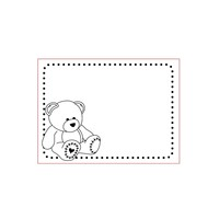 3D embossingfolder A6: Bear, Baby
