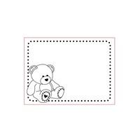 Dossier de gaufrage 3D A6: Bear, Baby