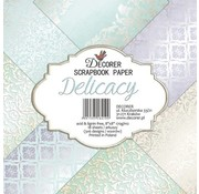 decorer Karten und Scrapbook Papierblock, Decorer In Pastel Colors, 20 x 20 cm