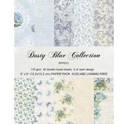 "Karten und Scrapbooking Papier, Papier blöcke Card and scrapbook paper block, 15.5 x 15.5 cm ""Dusty Blue"""