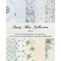 """Karten- und Scrapbook Papierblock, 15,5 x 15,5 cm """" Dusty Blue"""""""
