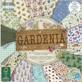 Karten und Scrapbooking Papier, Papier blöcke Blocco di carta e album per ritagli, 15,5 x 15,5 cm, Gardenia