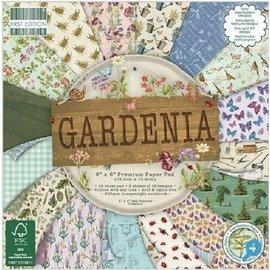 Karten und Scrapbooking Papier, Papier blöcke Kort og kladbogen papirblok, 15,5 x 15,5 cm, Gardenia