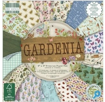 Karten und Scrapbooking Papier, Papier blöcke Kort- og scrapbogspapirblok, 15,5 x 15,5 cm, Gardenia