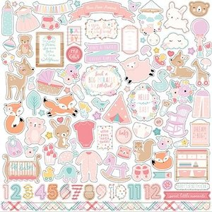 "Carta Bella / Echo Park / Classica Echo Park ""Hello Baby Girl"" 30,5 x 30,5 cm"" Element Stickers"