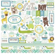 "Carta Bella / Echo Park / Classica Echo Park ""Hello Baby Boy"" 30,5 x 30,5 cm"" Element Stickers"